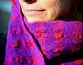 Handwoven Felted Wool Scarf