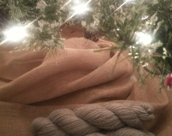 Beautiful Rose Grey Alpaca Yarn From Tickled Pink