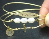 Wedding Bracelet Set, Religious Wedding Jewelry, Religious Wedding Gift, Wedding Bangles, Religious Jewelry, Religious Bracelets