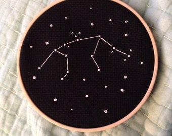 Zodiac Constellation Cross Stitch