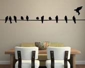 Bird on Wire Wall Decal - MEDIUM