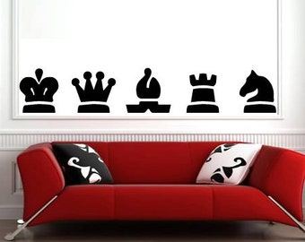 Vinyl Wall Decals - CHESS SET Wall Decal