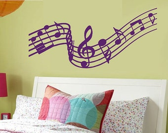 Music Notes Wall Decal - SALE 20 Buckaroos