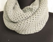 Wool Infinity Scarf  Unisex,Chunky Knit Cowl
