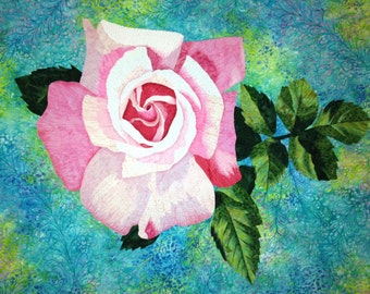 Rose Art Quilt Pattern by Lenore Crawford