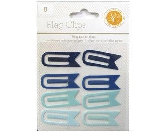 Studio Calico Flag Paperclips BLUE AQUA