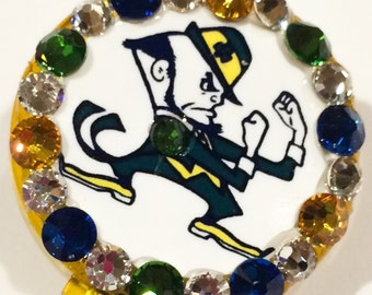 Fighting Irish Notre Dame Swarovski Crystal Embellished ID Badge Reel
