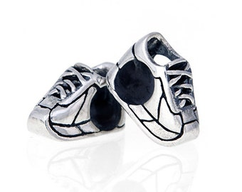 Running Shoe European Bead-Running Jewelry-Sterling Silver-Fits European Bracelet-Gift for Any Runners or Walkers