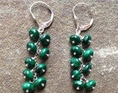 Malachite Waterfall Earrings
