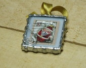 Christmas Postage Stamp Keepsake Ornament Santa Clause