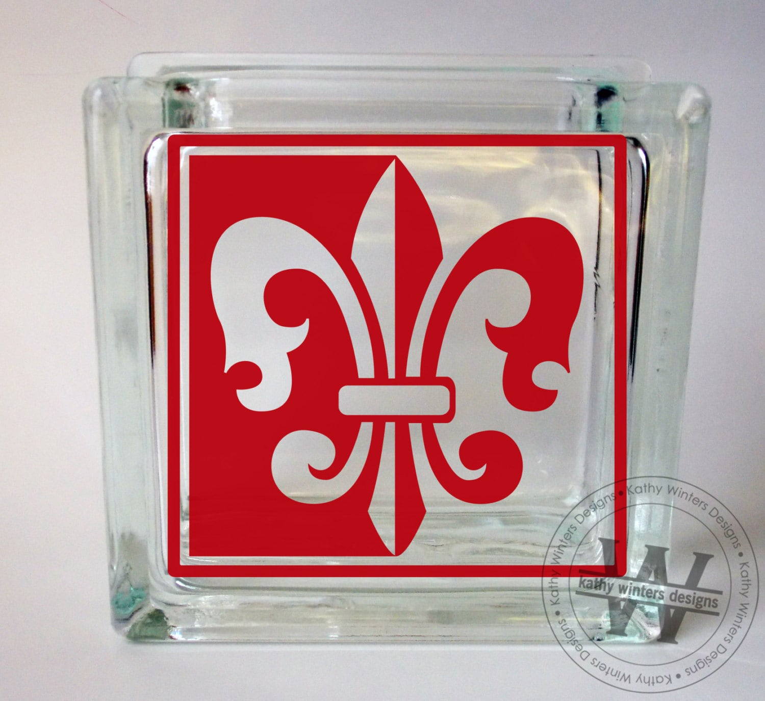 vinyl lettering for glass vinyl lettering glass block decal fleur de lis by 15847