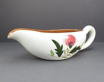 Stangl Pottery Thistle Pattern Gravy Boat Pitcher Vintage 1950s Serving Piece