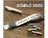 Forever and Always Gift Tie Clip Wedding Tie Bar Anniversary Gift Groom Tie Clip Husband Tie Clip For Him Mens Gift Mens Tie Clip
