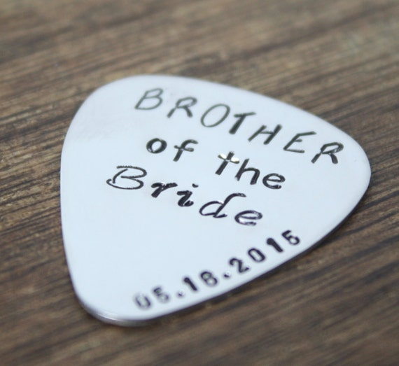 Brother Of The Bride Gift Guitar Pick Brother By