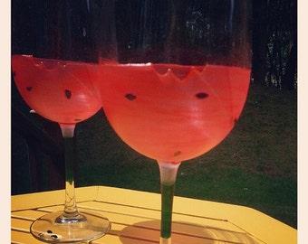 Watermelon Wine Glasses