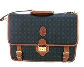 Leather Briefcase Messenger Bag Laptop bag Made in Italy