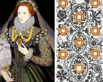 Chemise, Smock, Queen Elizabeth-I Reproduction Blackwork, Elizabethan, Renaissance - MADE TO ORDER