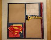 Superheroes - Superman #2 8 x 8 scrapbook page