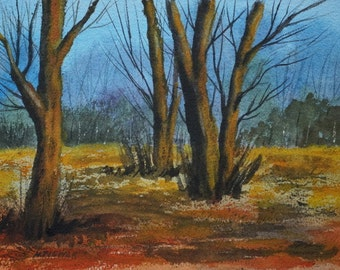 Forest Before Winter - Original Watercolor