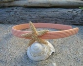 Girls/Toddlers Starfish Headband-ORANGE SHERBET-Mermaid Hair, Beach Wedding, Toddler Hair Photo Prop, Children, Coastal, Children, Fun