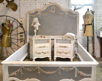 Painted Cottage Shabby Farmhouse Romantic Bed