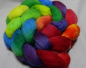 Handpainted Falkland Wool Roving - SKITTLES 4oz