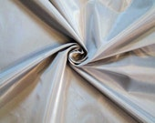 Silk Taffeta Fabric - Silver/Gray - By the Yard