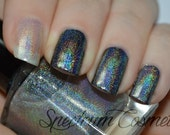 GLASS SLIPPER Linear Holographic Nail Polish Top Coat