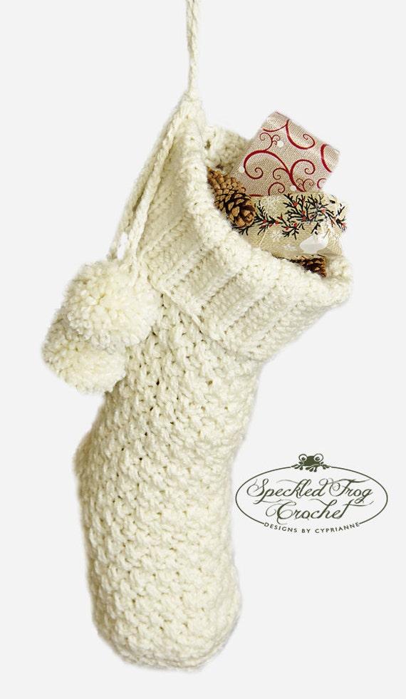 Crochet Pattern Christmas Stocking By Prettydarnadorable