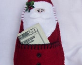 Gift Card Santa Ornament with Pocket BICOFG