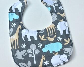 Baby Bib, Flannel Bibs Animals, Boy Girl Infant Gift Idea, Feeding Nursing Bib, Cute Animal Bib