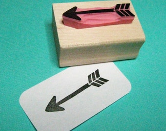 Arrow Hand Carved Rubber Stamp - Geometric Stamper - Pointer - Feather - Native American - Traditional - Wedding invites -   Scrapbooking