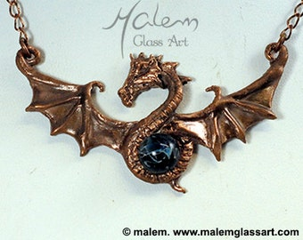 Copper Flying Dragon necklace