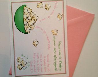 Popcorn Birthday Invitation