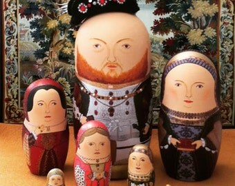The Six Wives of Henry VIII Matryoshka Dolls