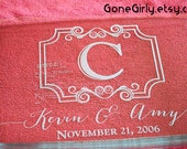 Wedding Gift - Custom Initial, Names and Established Date -  9x13 Engraved Pyrex by Gone Girly - Custom Engraved 3 Quart + Free Red Lid