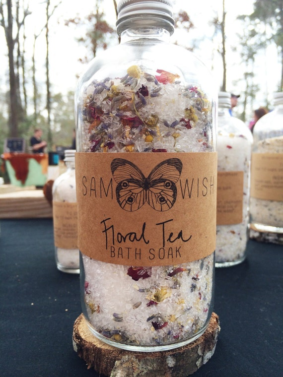 Floral Tea Bath Soak // Organic