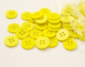 """Yellow 1/2"""" (13 mm) buttons, Qty 306"""