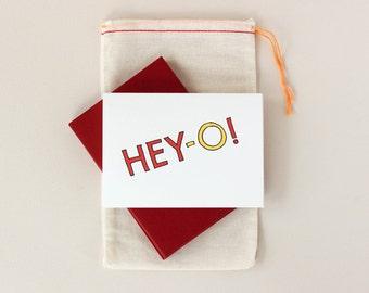 Hey-O! Hand Lettered Font Notecard Set