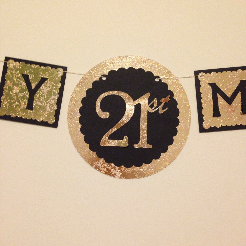 Happy 21st Birthday Banner
