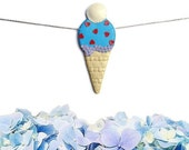 Ice-Cream Cake Pop Necklace #9 - Inspired by Katherine Sabbath  - ONE OF a KIND