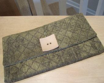 SALE - Sage Green Clutch