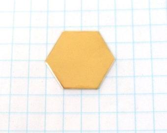 14K Gold-Filled Hexagon Blank Disc Hand Stamping Jewelry Pendant or Bracelet 1-inch 22 gauge Handmade