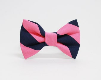 Striped Dog Bowtie- More Color Options Available