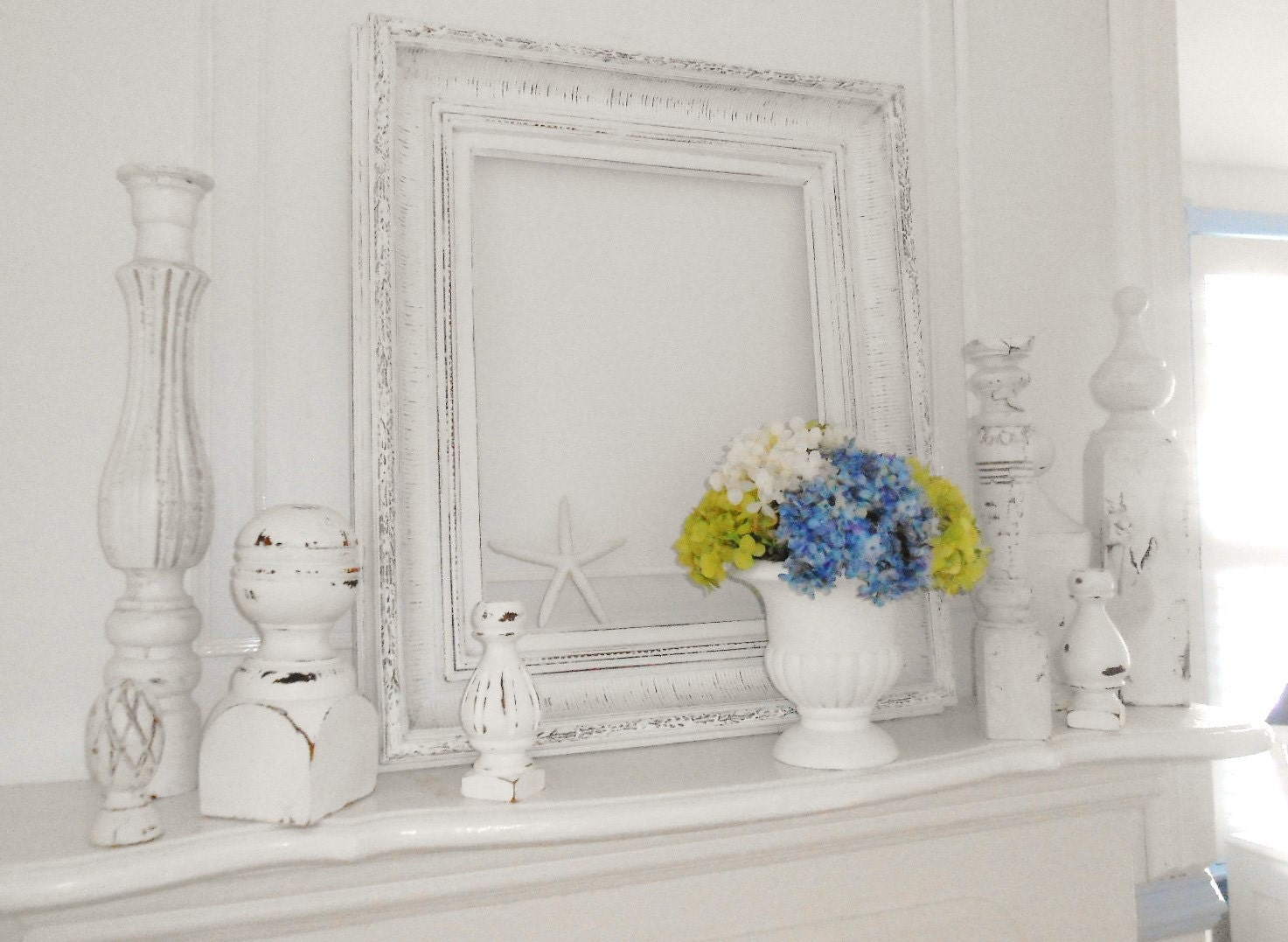 Shabby Chic Painted Mirrors Frame Shabby Chic Painted