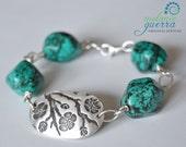 Handmade Silver & Turquoise Bracelet