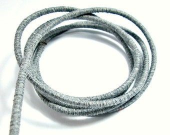Cotton fiber cord, cotton rope for crafts, cotton rope for crafting, colored cotton rope, wrapped cotton rope, 3.5mm cord, gray rope, 1m