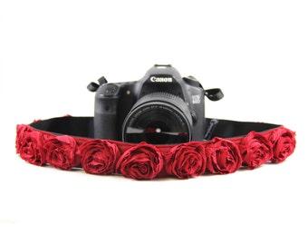 Red Organza SLR Camera Strap