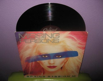 Vinyl Record Album Missing Persons - Spring Session M LP 1982 Pop New Wave Synth