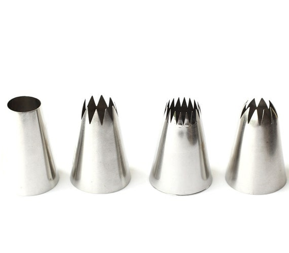 Jumbo Cupcake Pastry Tip Set Extra Large Frosting by ...